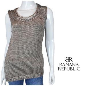 BANANA REPUBLIC Braided Metallic Knit Top